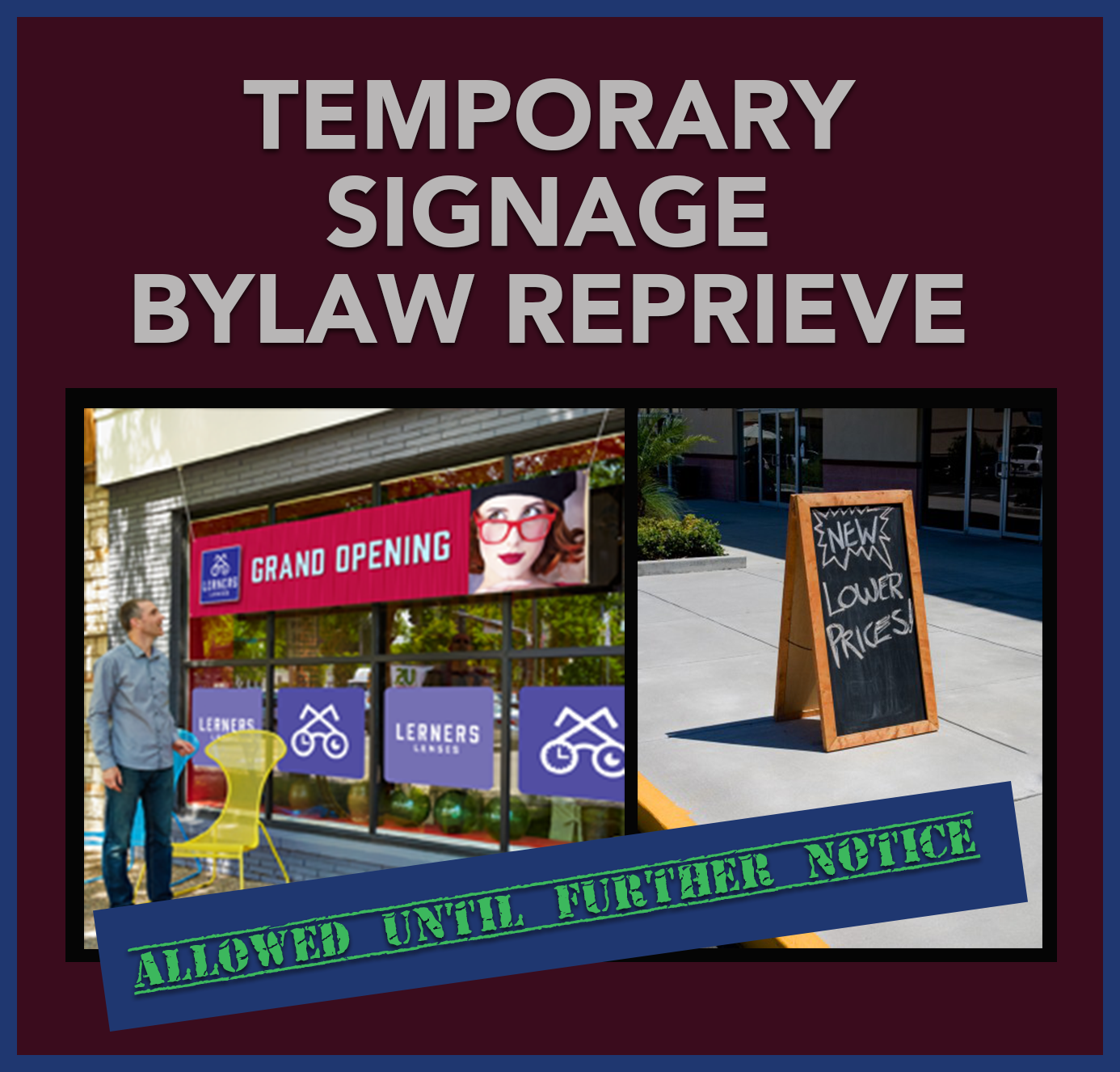 Temp Sign Reprieve_Chelmsford Bylaw