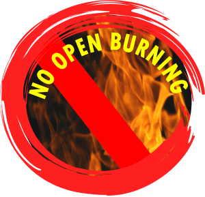 No burning allowed!
