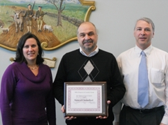 Jeanne Parziale, HR director, Gary Persichetti, public facilities director, Paul Cohen, town manager